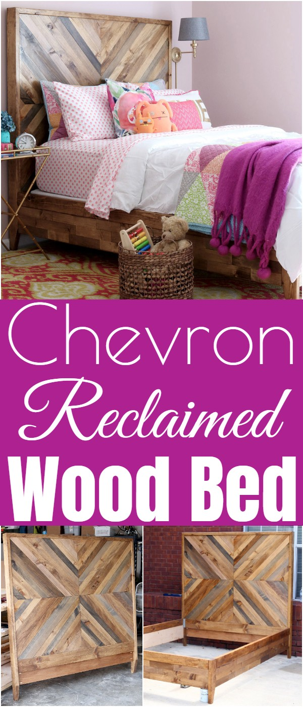 Chevron Reclaimed Wood Bed