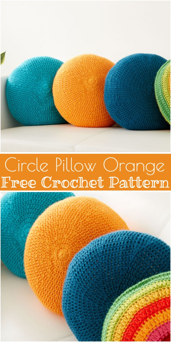Circle Pillow Orange