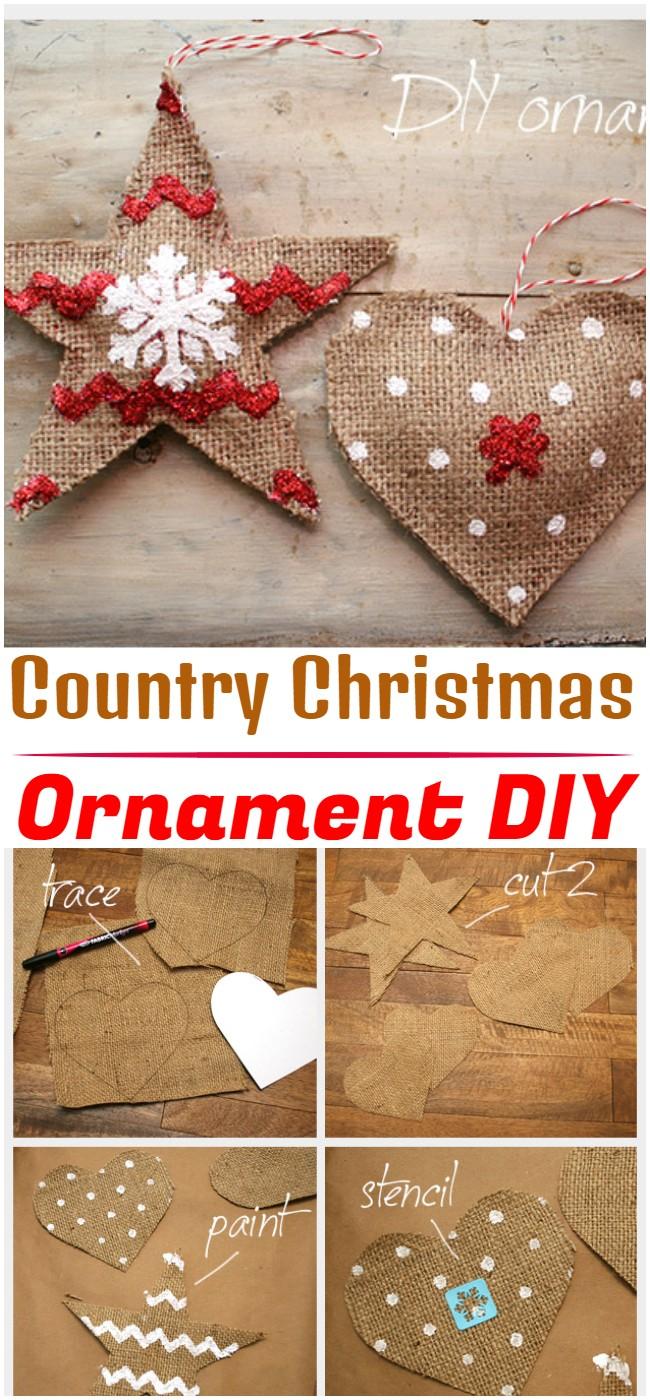 DIY Country Christmas Ornament