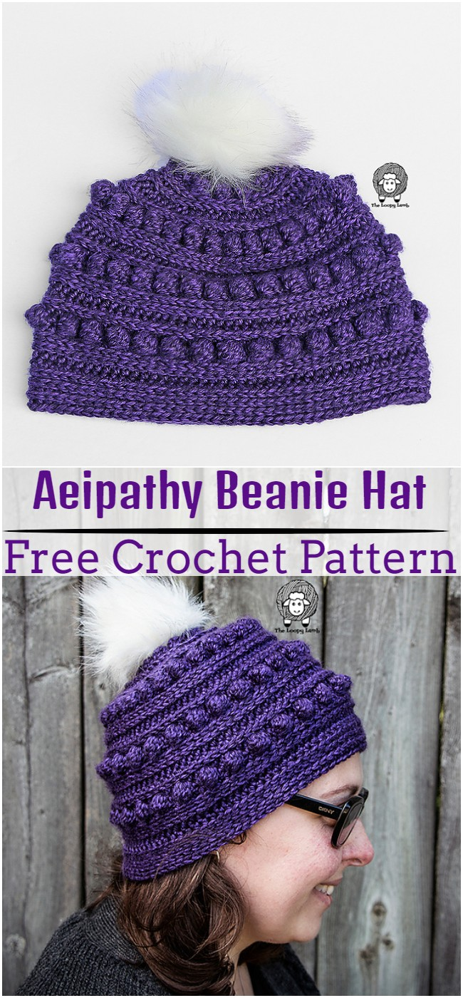 Crochet Aeipathy Beanie Hat Pattern
