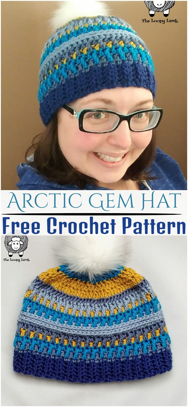 Crochet Arctic Gem Hat Pattern