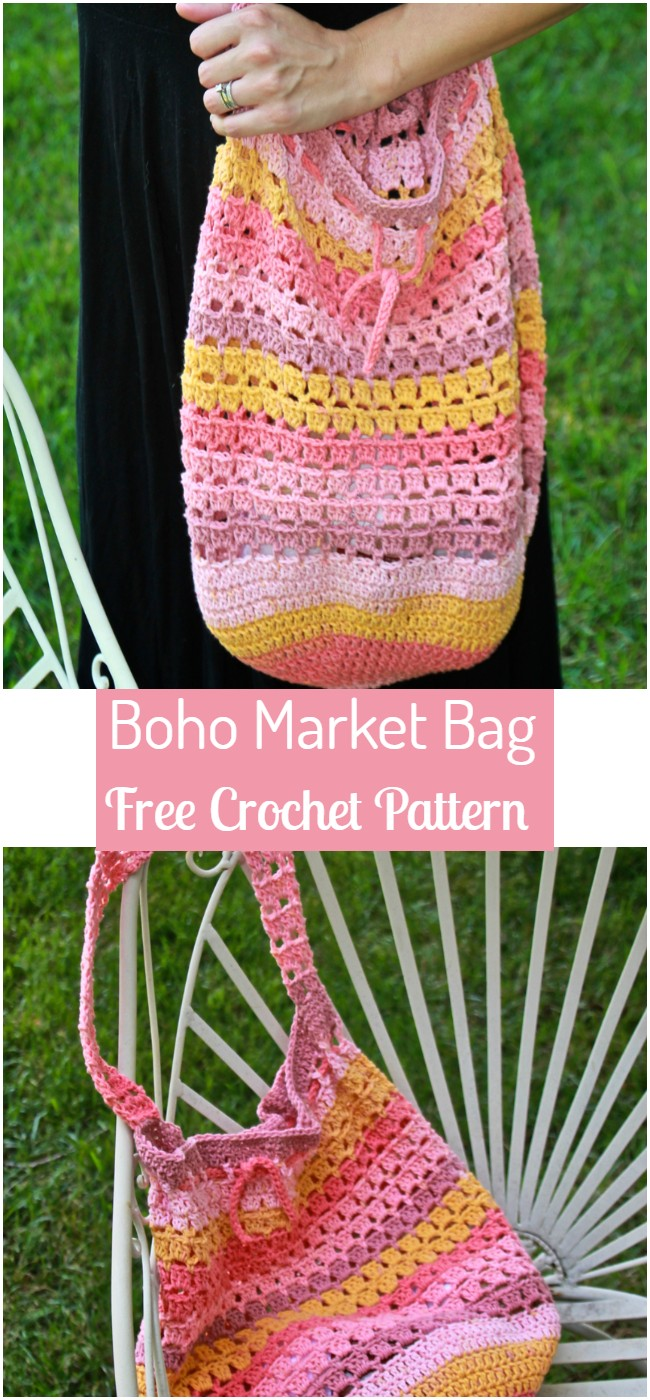 Crochet Boho Market Bag Pattern
