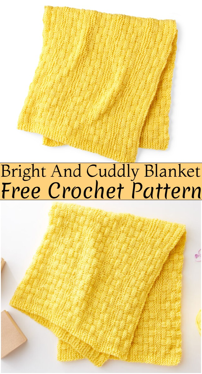 Crochet Bright And Cuddly Blanket Pattern