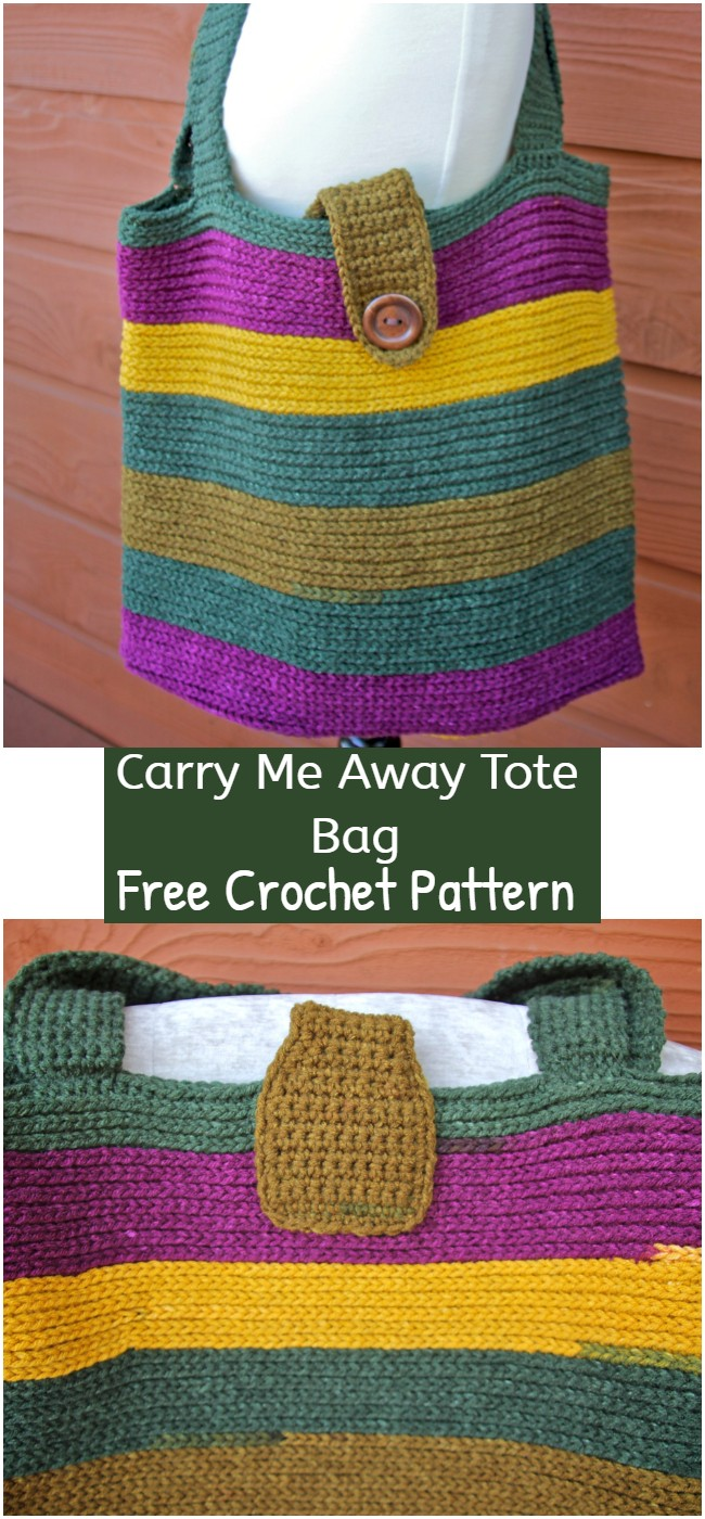 Crochet Carry Me Away Tote Bag Pattern