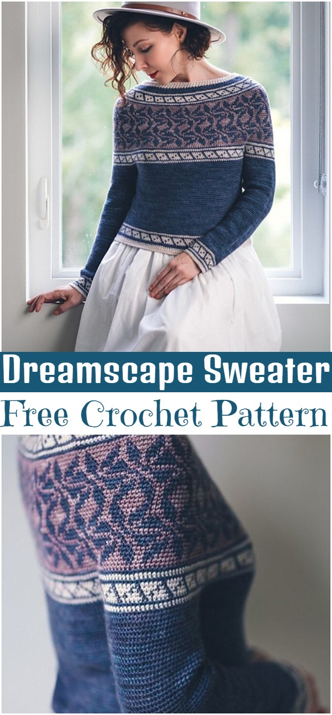 Crochet Dreamscape Sweater Pattern