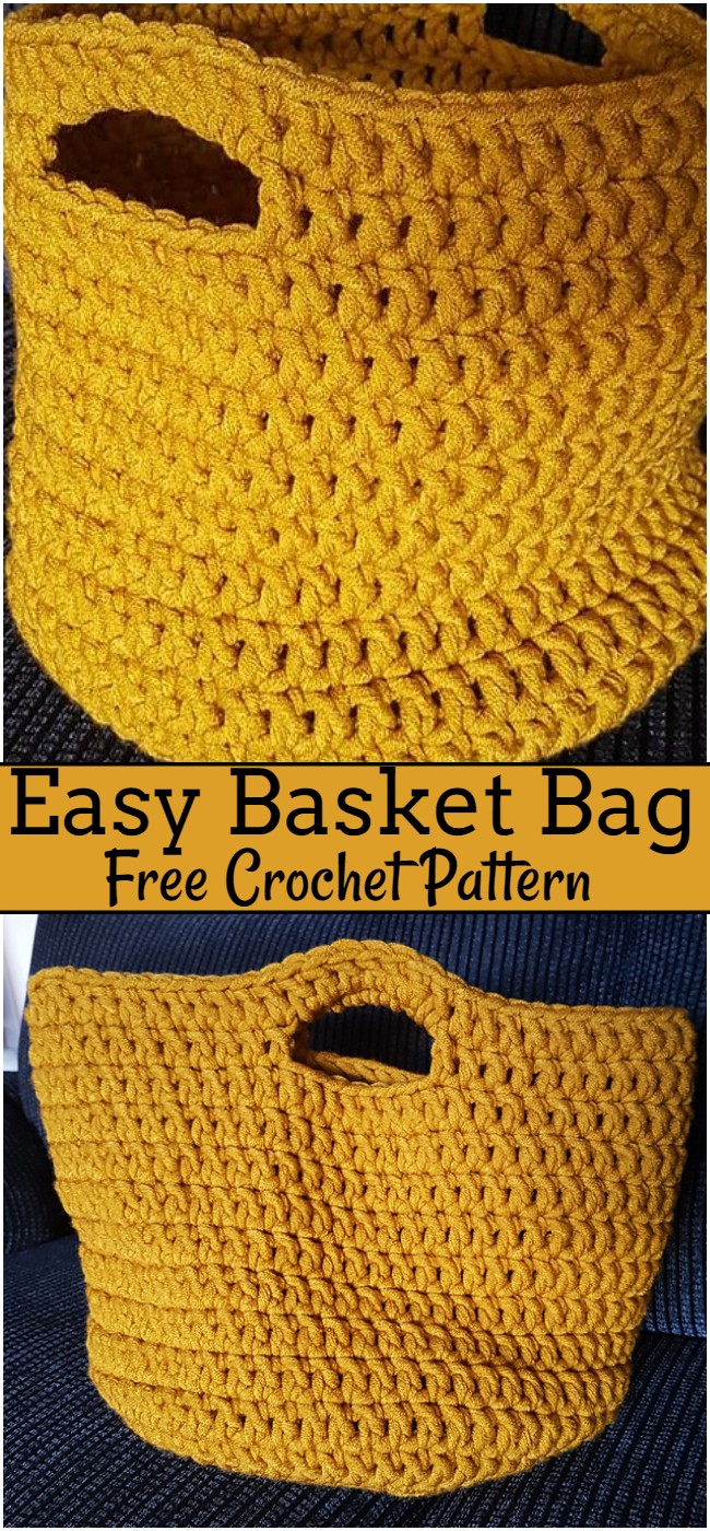 Crochet Easy Basket Bag Pattern