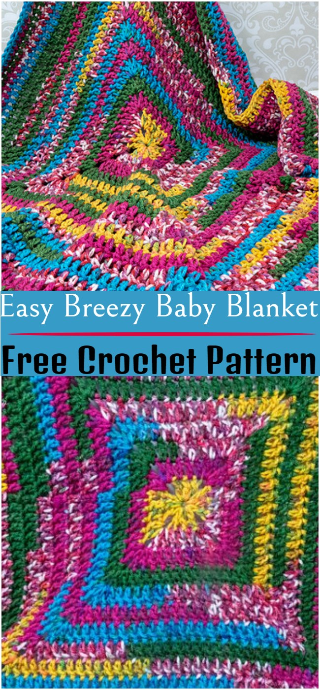 Crochet Easy Breezy Baby Blanket Pattern