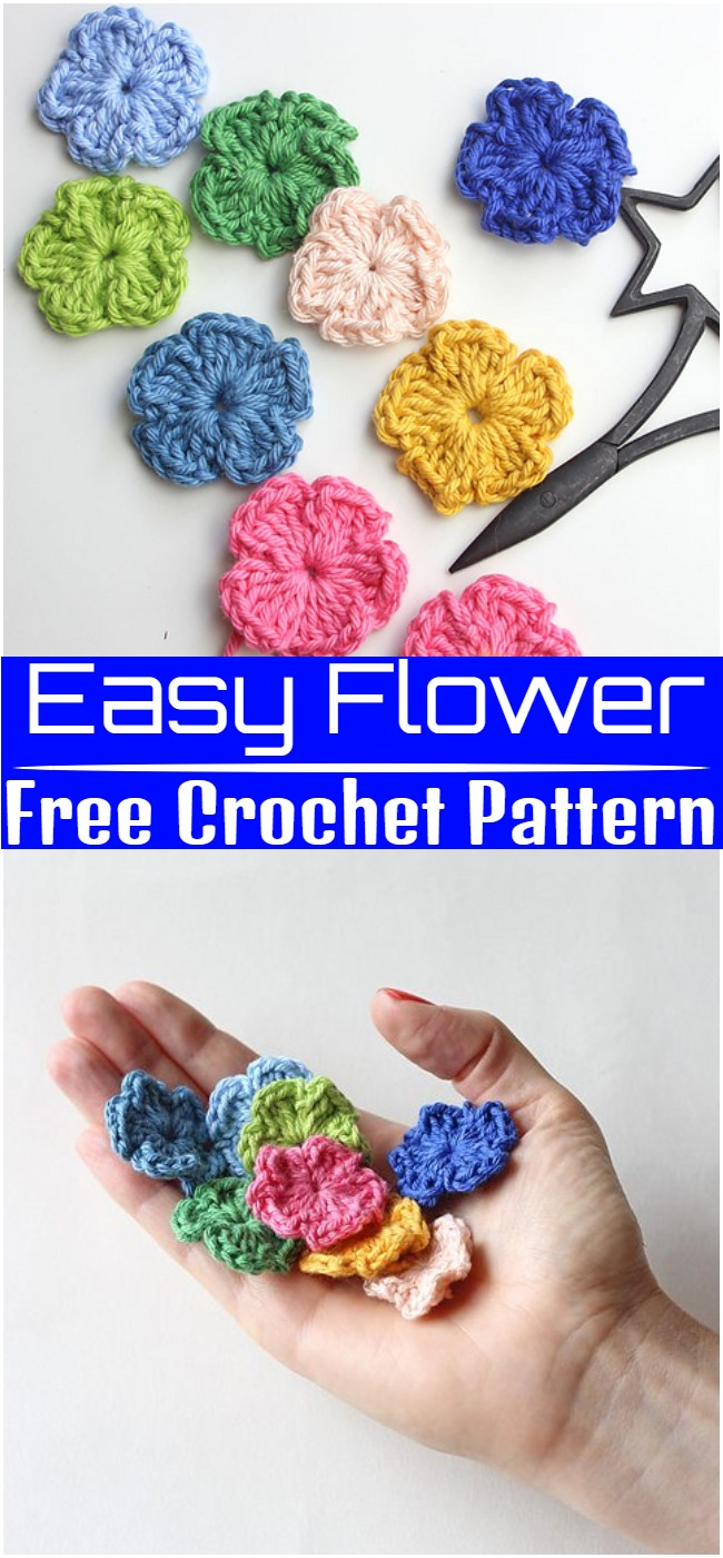 Crochet Easy Flower Pattern