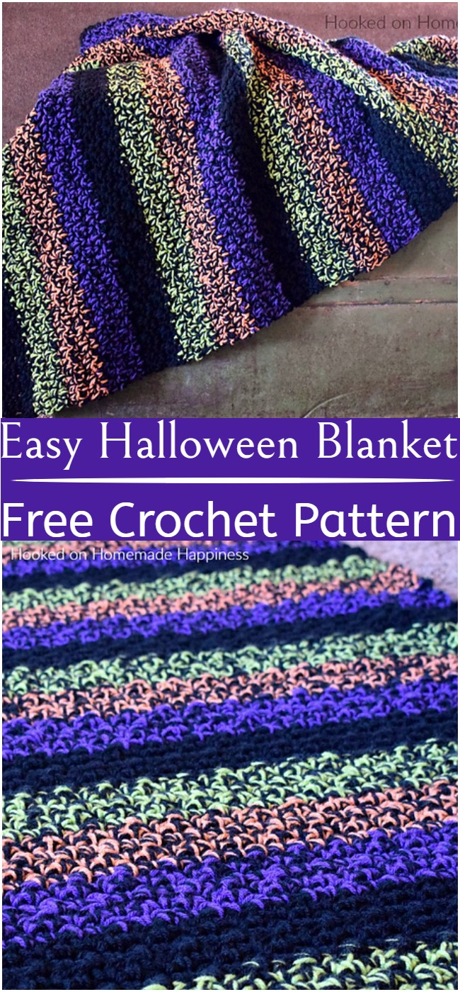 Crochet Easy Halloween Blanket Pattern