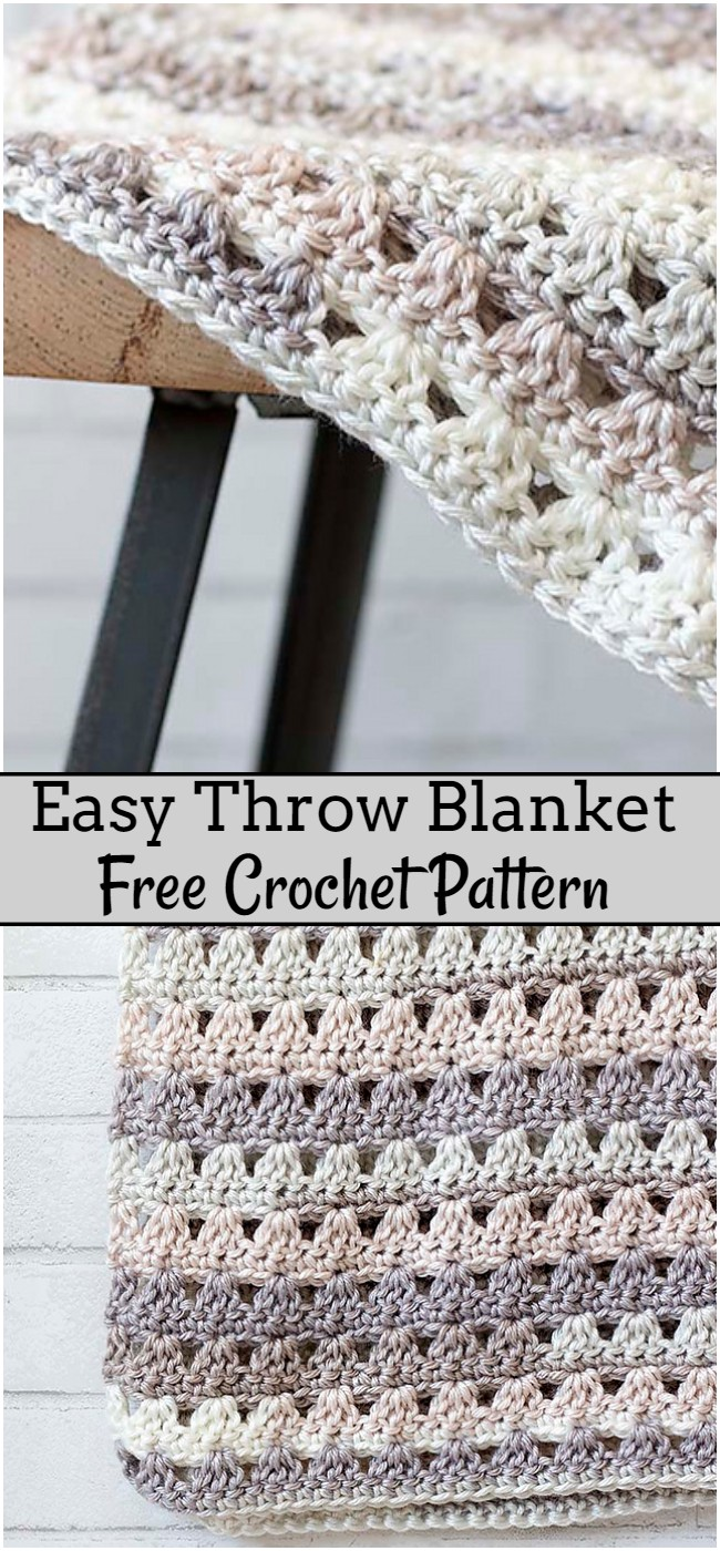 Crochet Easy Throw Blanket Pattern
