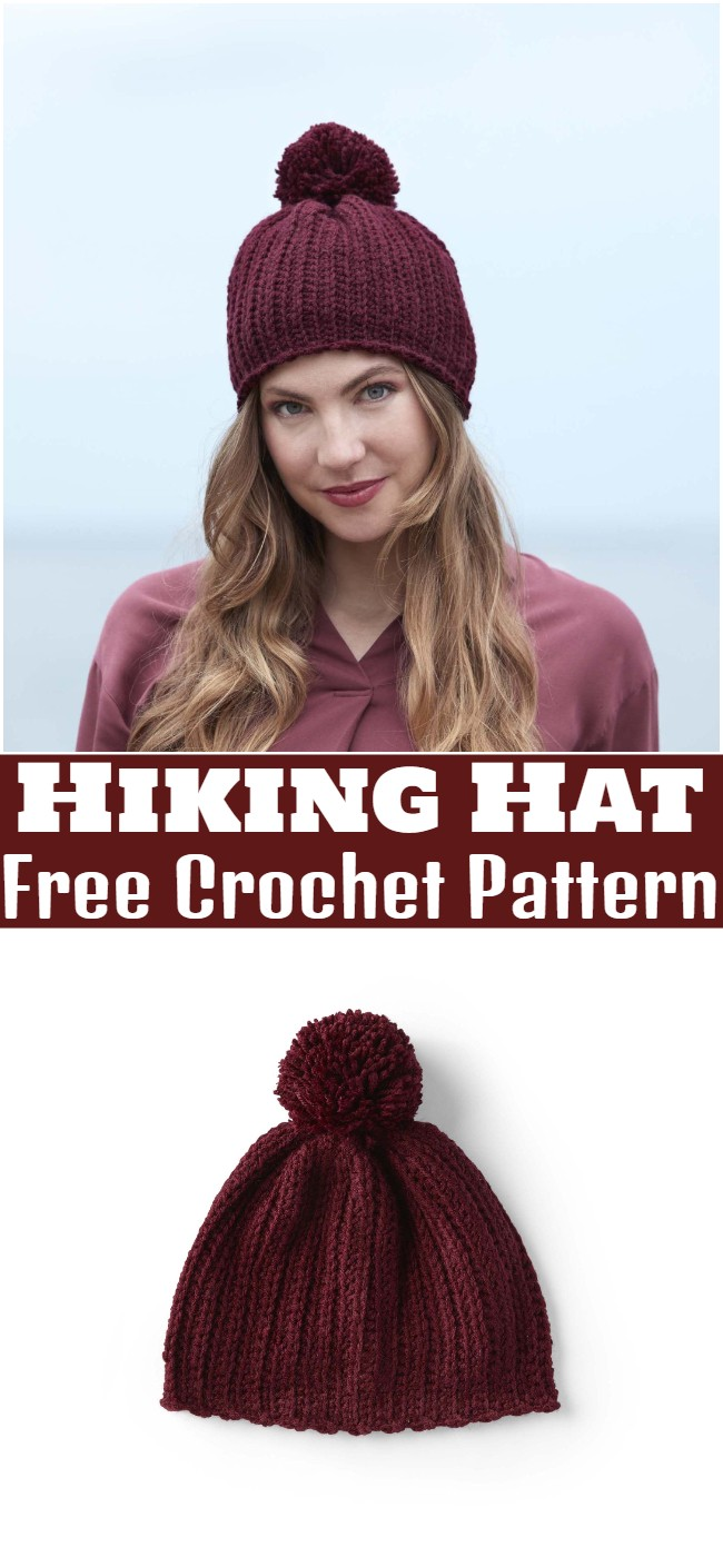 Crochet Hiking Hat Pattern