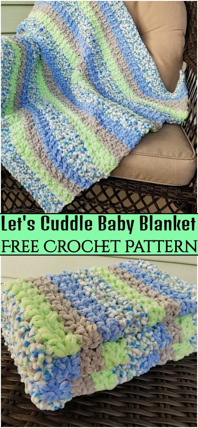 Crochet Let's Cuddle Baby Blanket Pattern