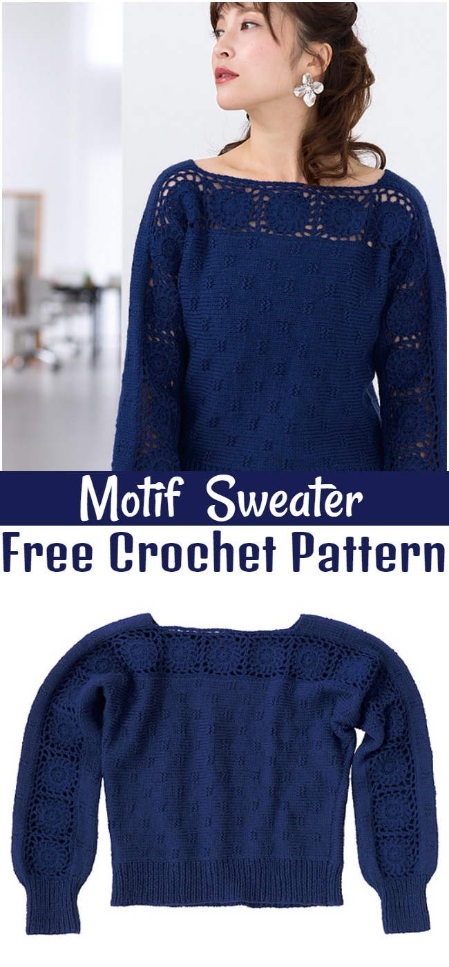 Crochet Motif Sweater Pattern