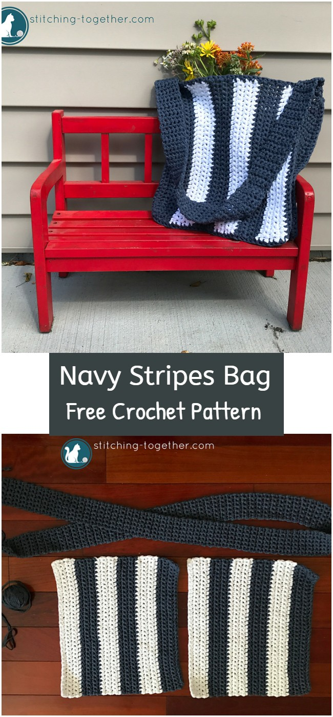 Crochet Navy Stripes Bag Pattern