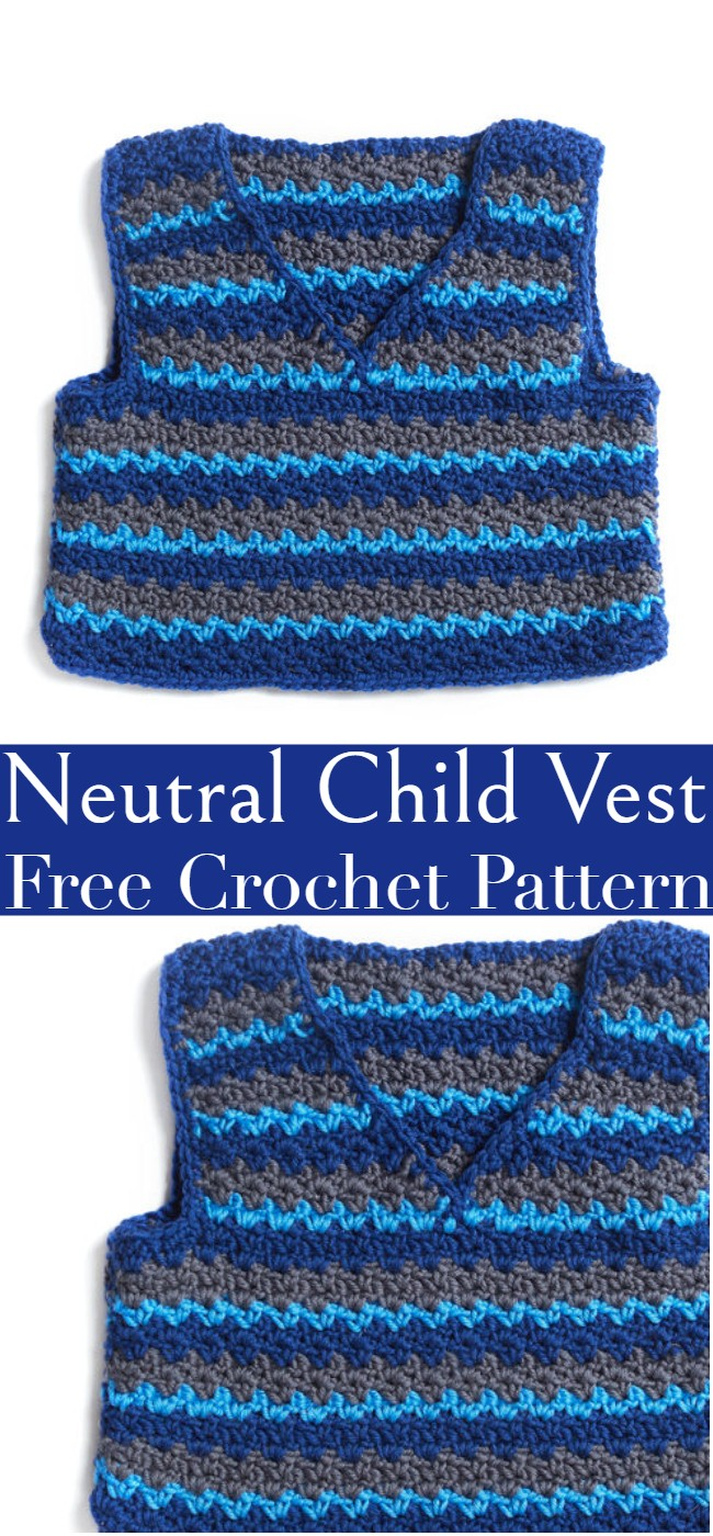 Crochet Neutral Child Vest Pattern