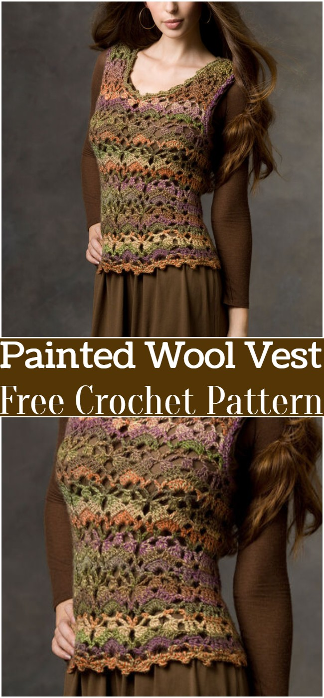 Crochet Painted Wool Vest Pattern