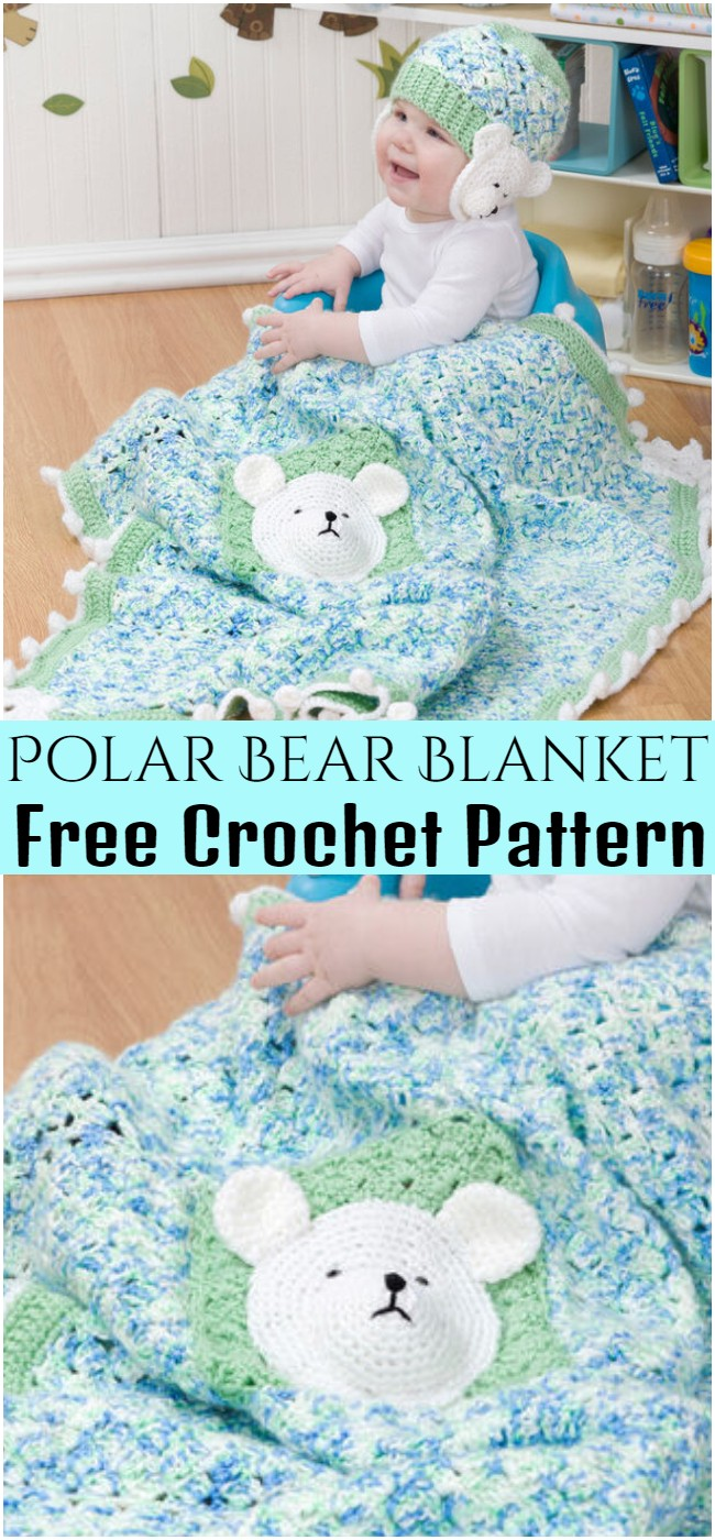 Crochet Polar Bear Blanket Pattern