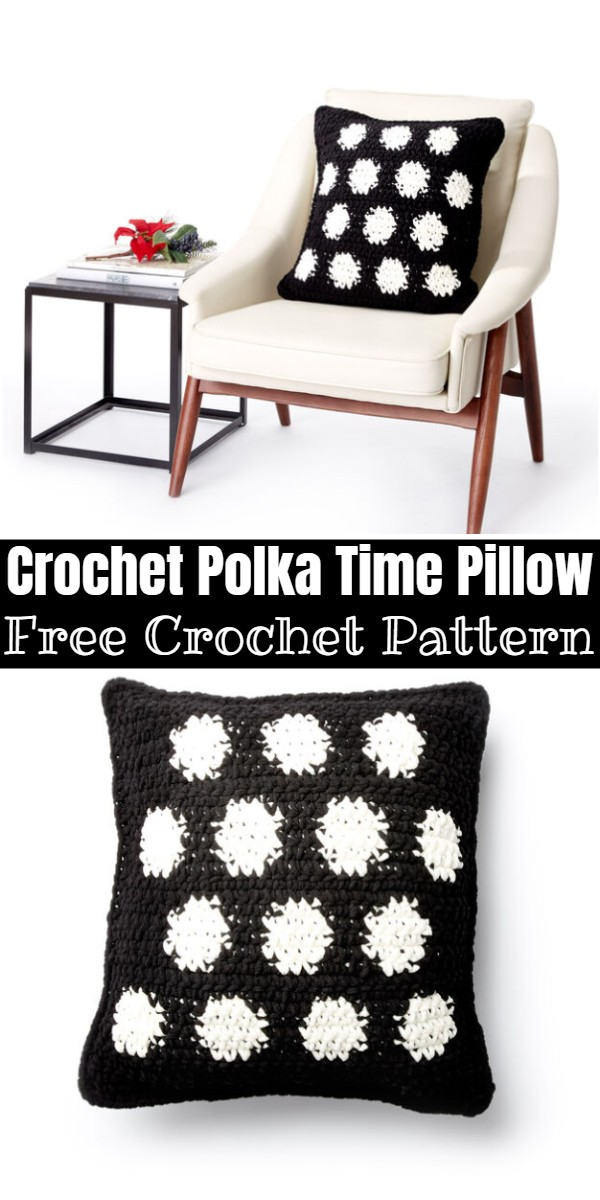 Crochet Polka Time Pillow
