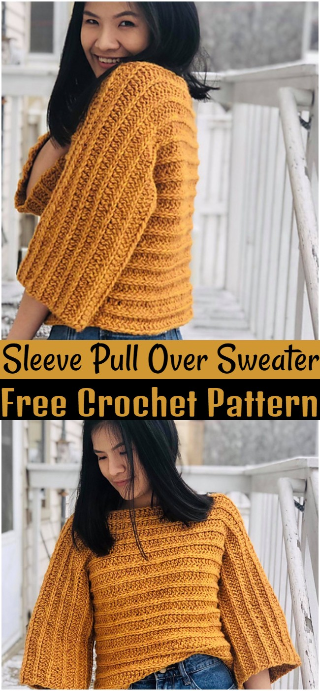 Crochet Sleeve Pull Over Sweater Pattern