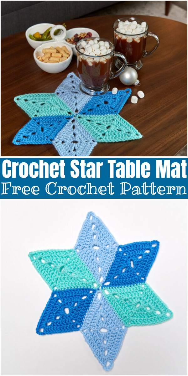 Crochet Star Table Mat