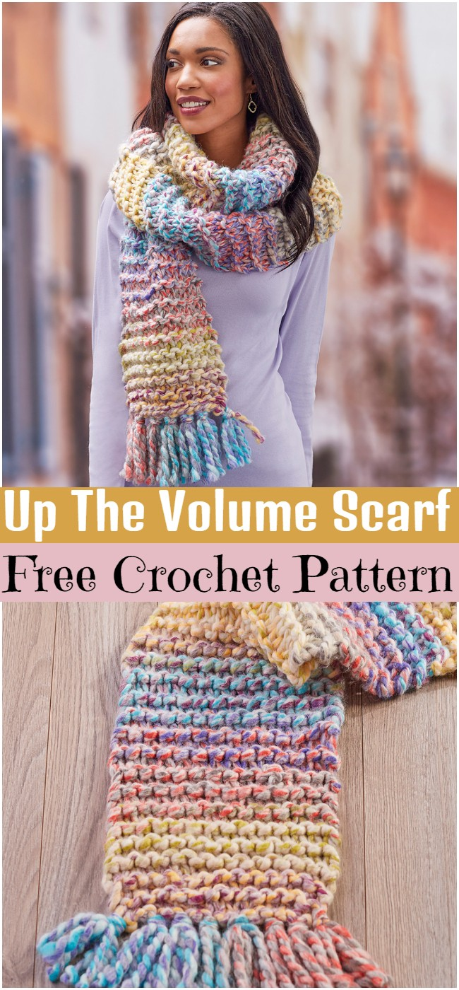 Crochet Up The Volume Scarf Pattern