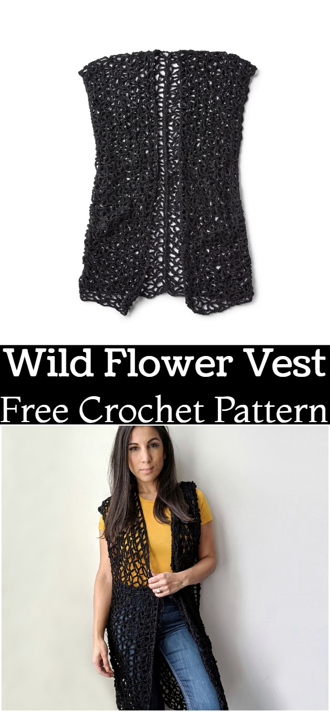 Crochet Wild Flower Vest PatternCrochet Wild Flower Vest Pattern