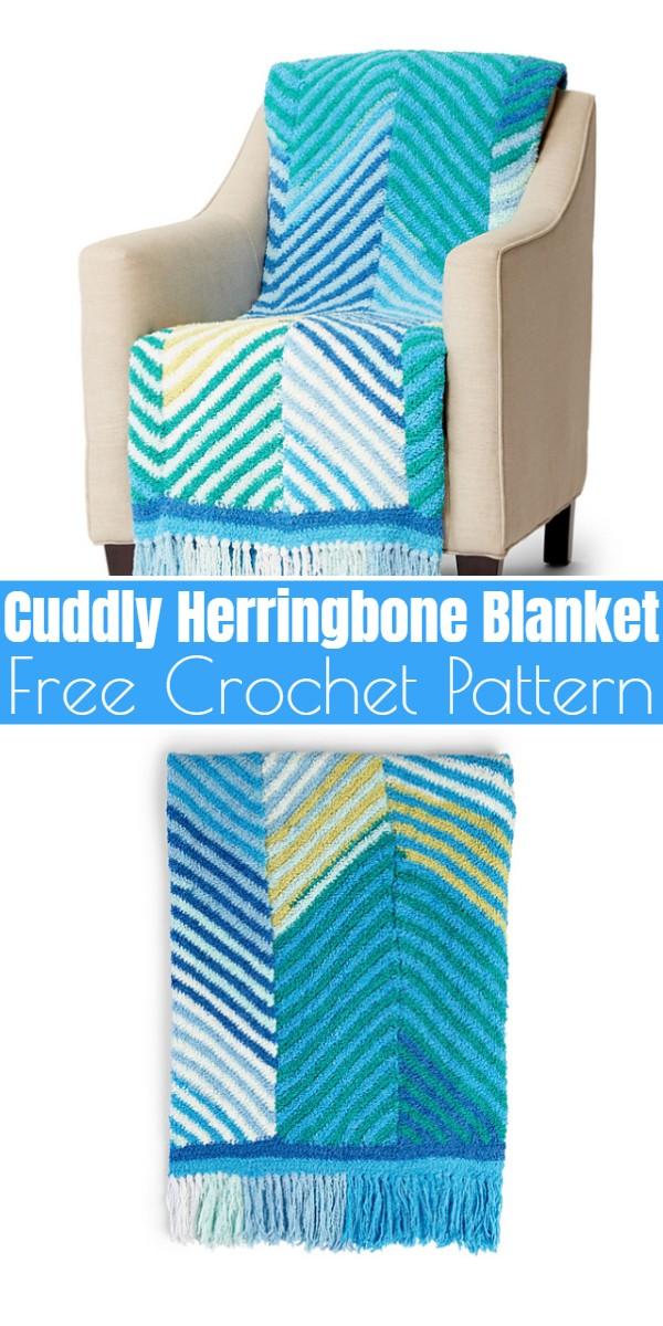 Cuddly Herringbone Blanket