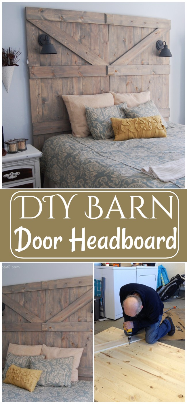 DIY Barn Door Headboard