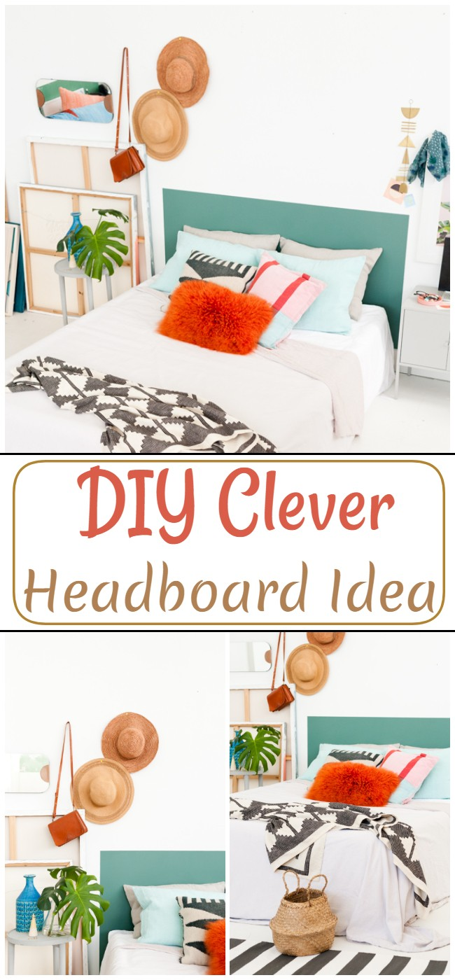 DIY Clever Headboard Idea