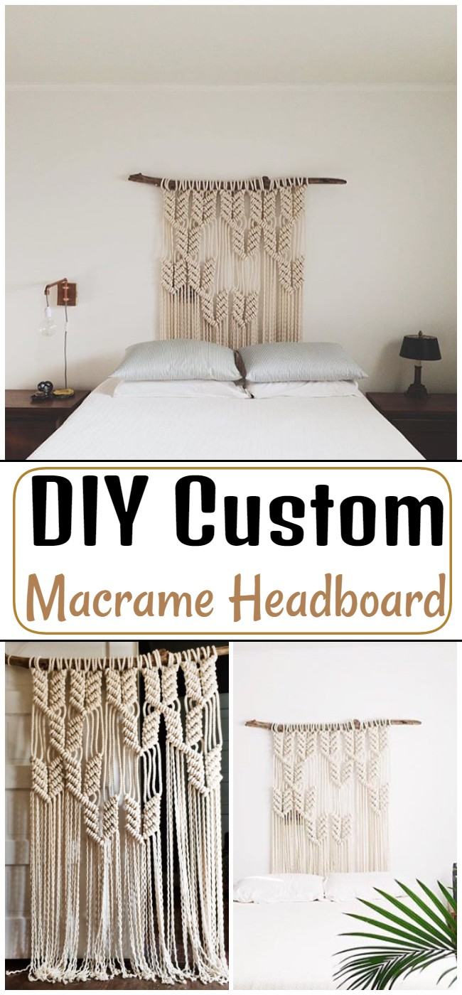 DIY Custom Macrame Headboard