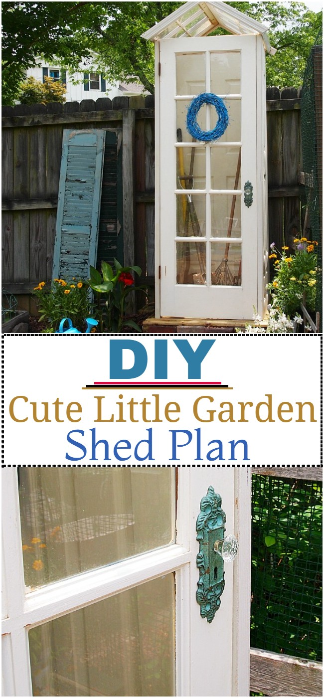 DIY Cute Little Garden Shed Plan