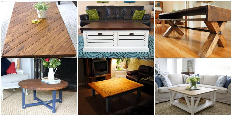 DIY Farmhouse Coffee Table Plans & New Ideas 1