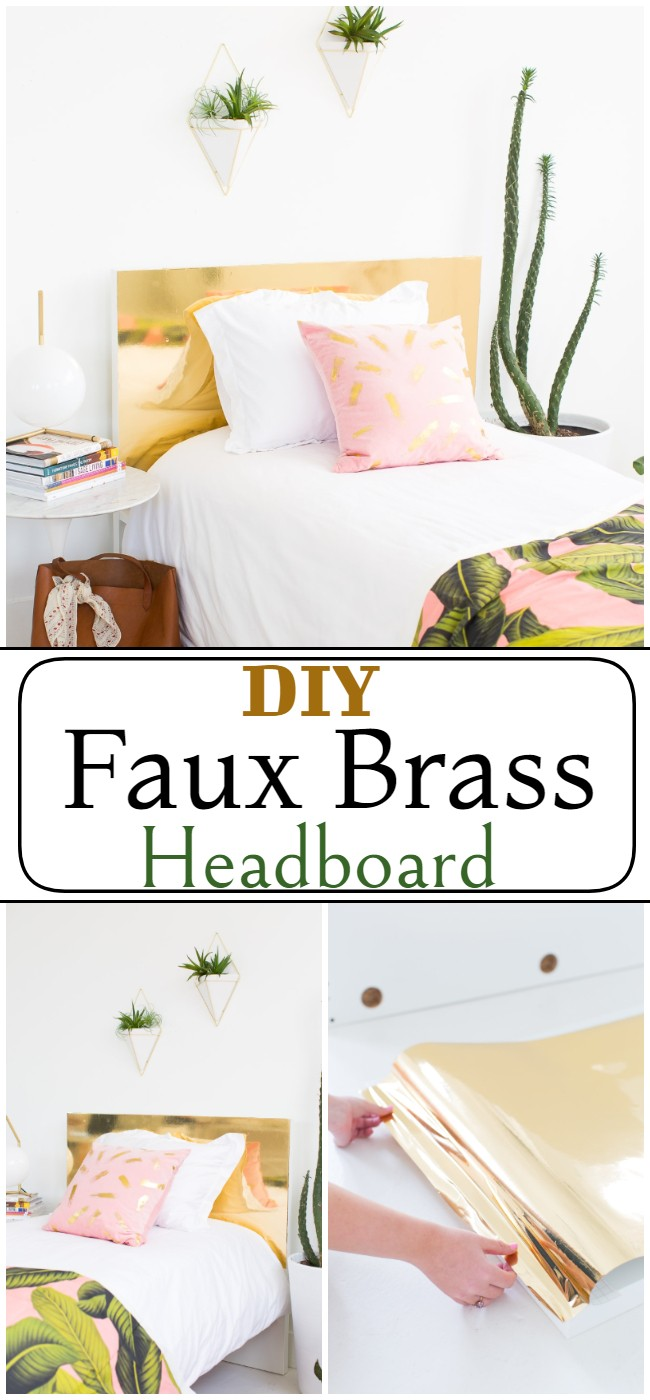 DIY Faux Brass Headboard