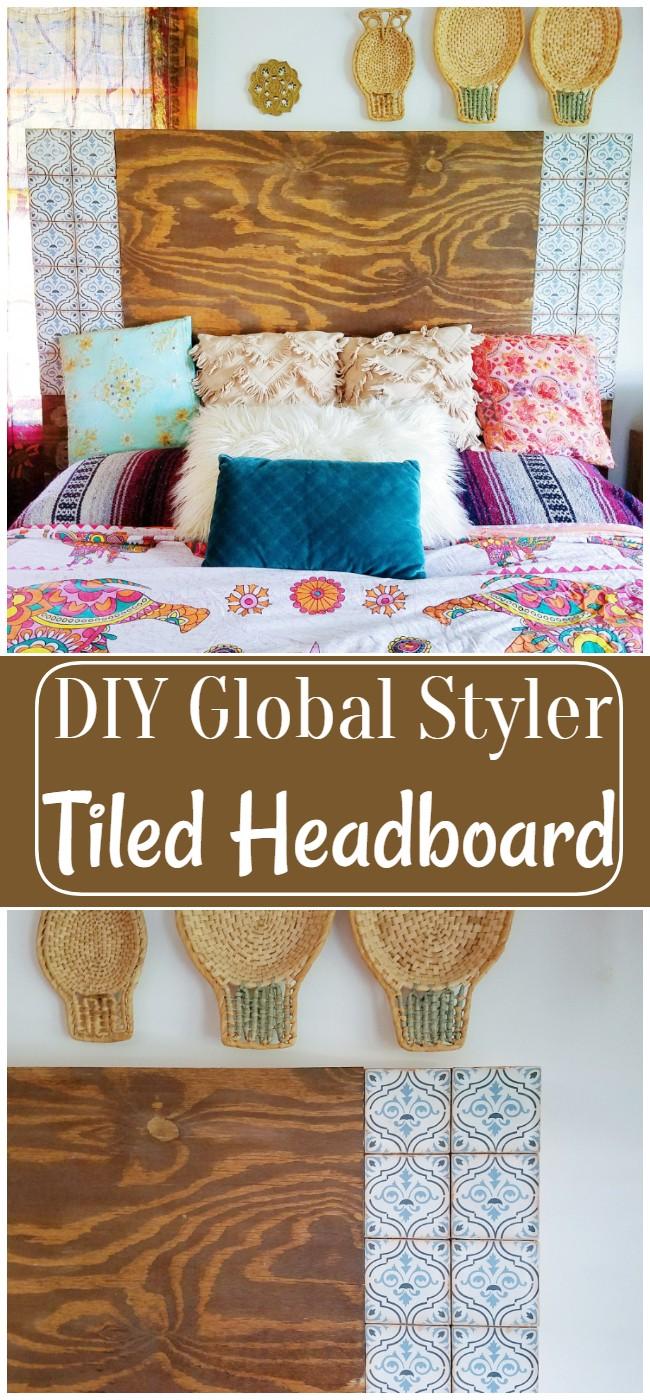 DIY Global Styler Tiled Headboard