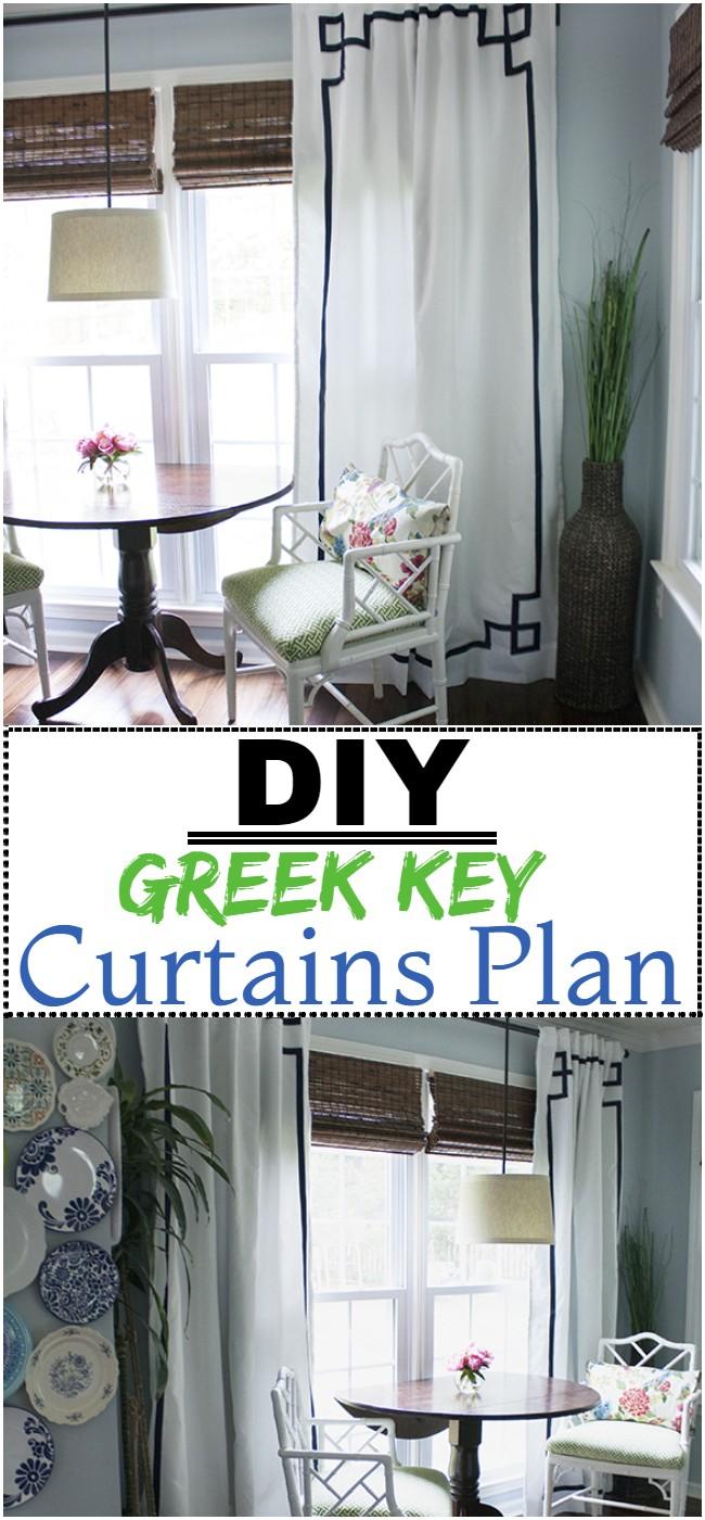 DIY Greek Key Curtains Plan