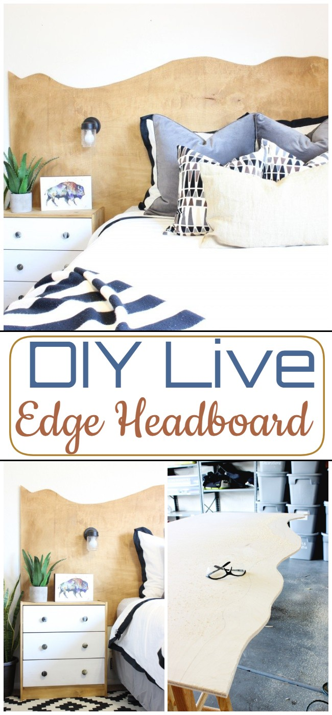 DIY Live Edge Headboard