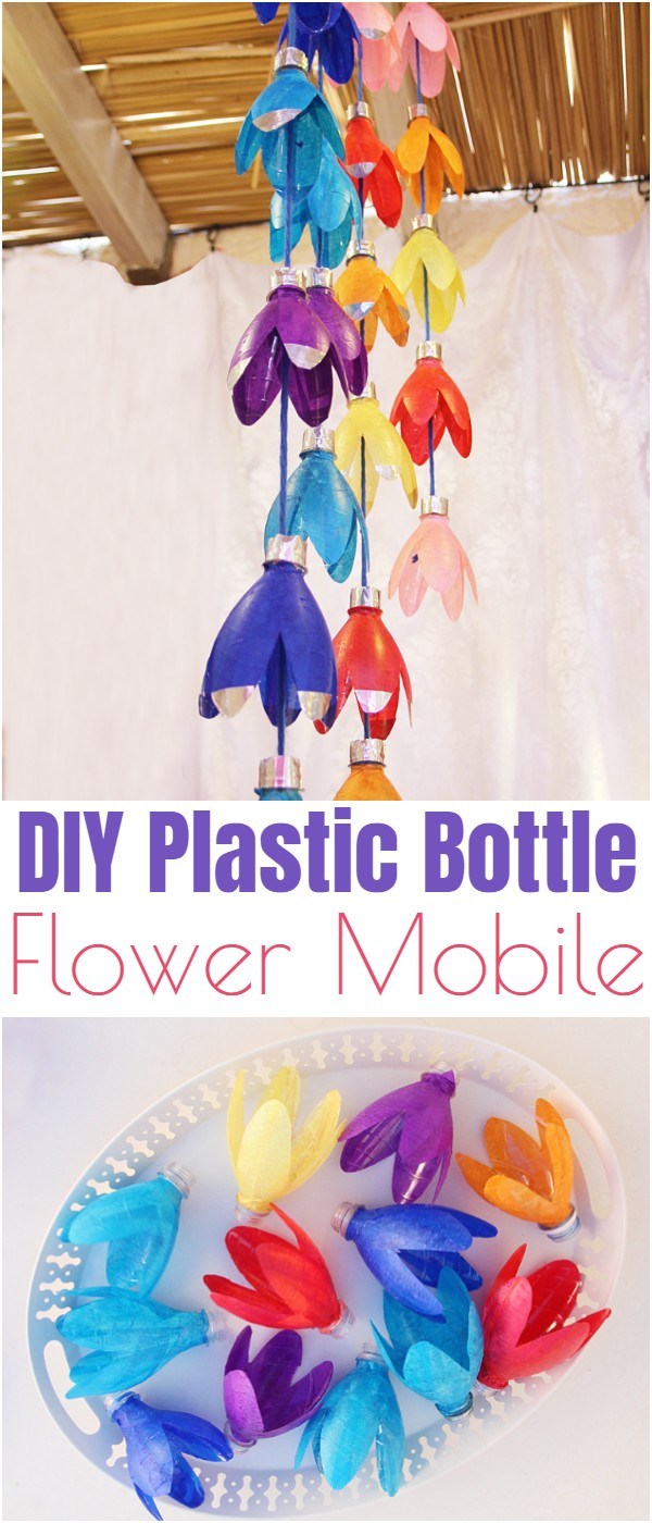 DIY Plastic Bottle Flower Mobile
