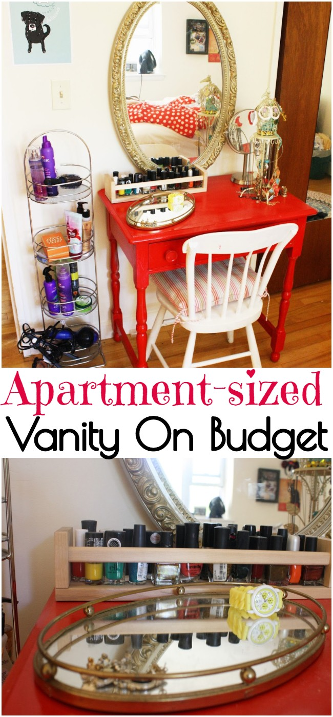 Diy Apartment-sized Vanity On A Budget