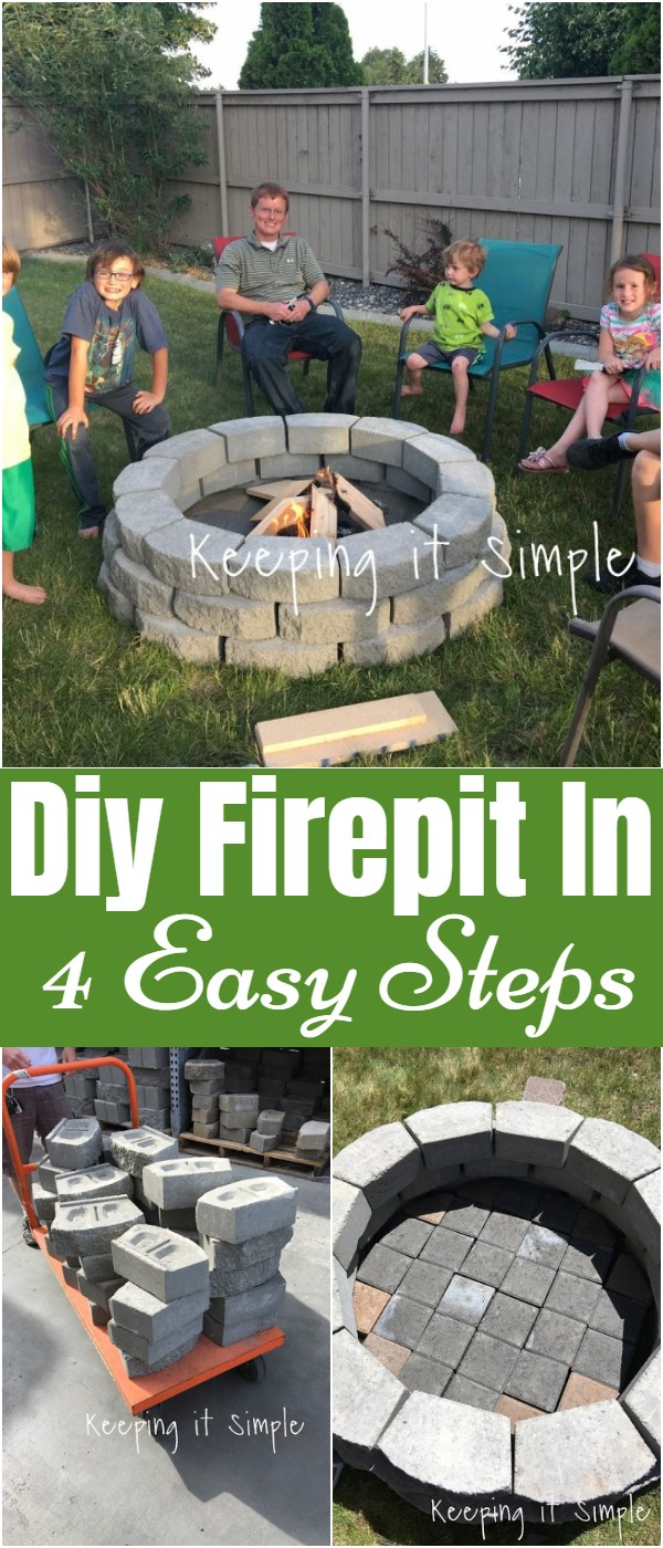 Diy Firepit In 4 Easy Steps