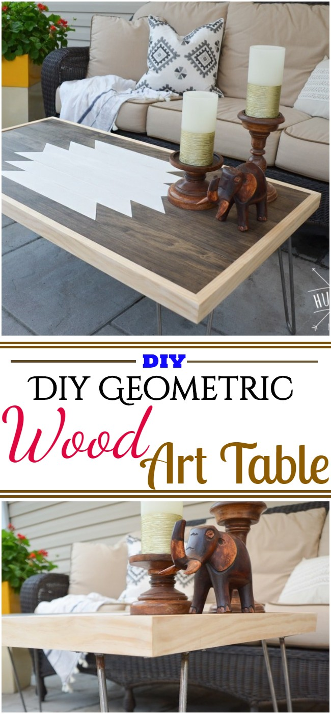 Diy Geometric Wood Art Table