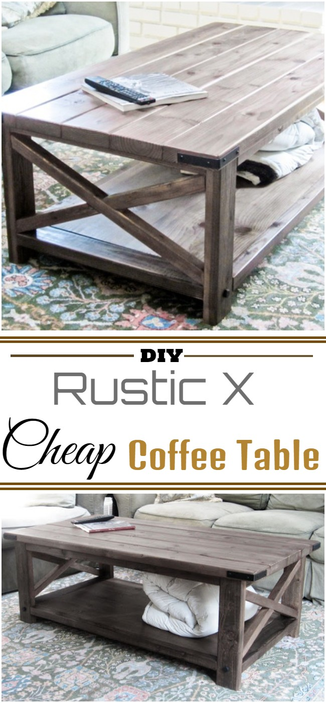 Diy Rustic X Cheap Coffee Table