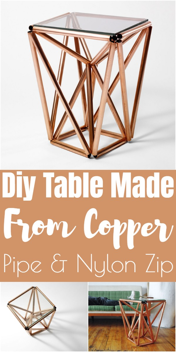 Diy Table Made From Copper Pipe & Nylon Zip
