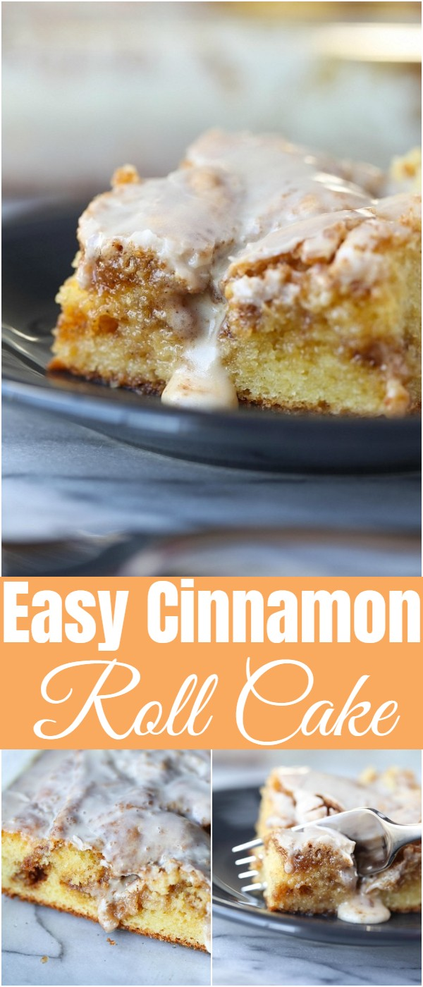 Easy Cinnamon Roll Cake