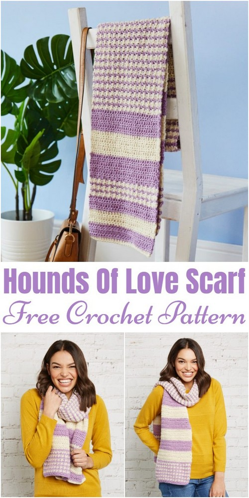 Free Crochet Easy Ribbed Scarf