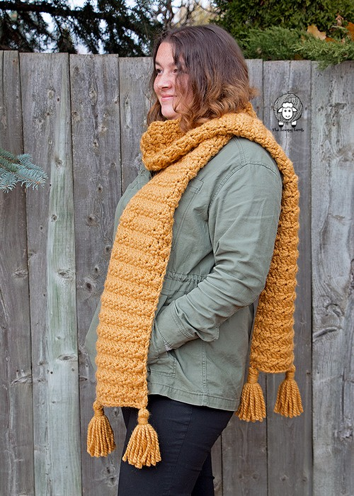 Free Crochet The Heather Super Scarf: