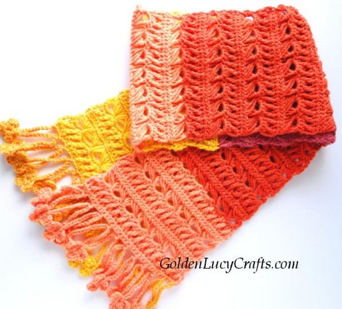Free Sunset Flame Scarf Pattern