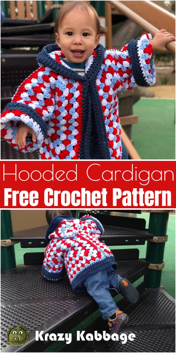 Hooded Cardigan Free Crochet Pattern