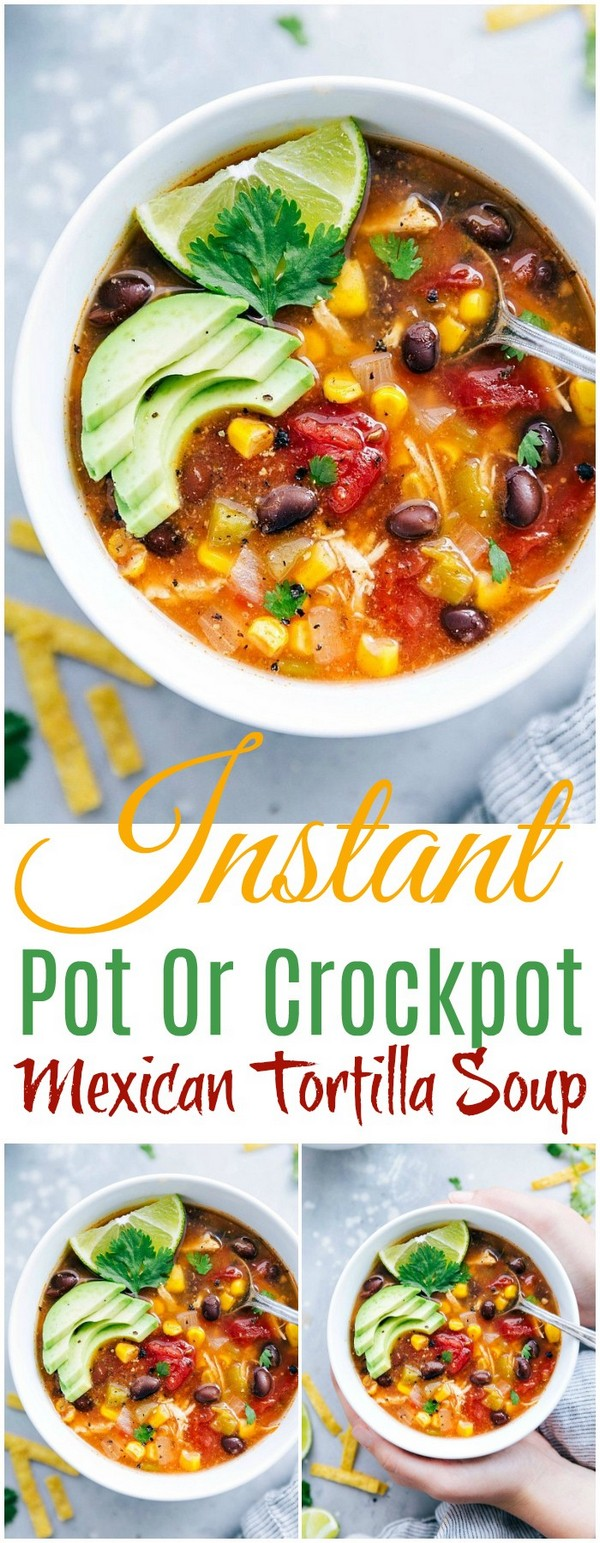 Instant Pot Or Crockpot Mexican Tortilla Soup