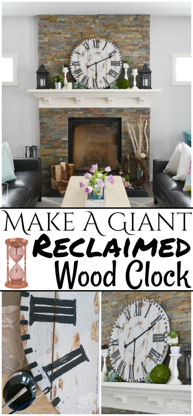 Make A Giant Reclaimed Wood Clock