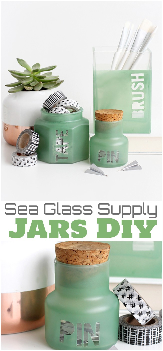 Sea Glass Supply Jars Diy